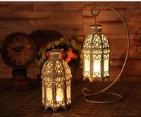 Free shipping European-style wrought iron candelabra, wrought iron hook Home Decoration Creative candlestick wedding supplies
