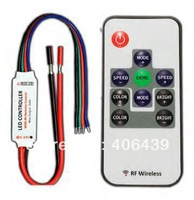 RGB led controller;mini led rf rgb controller;R108 RF Wireless RGB LED controller,max 4A*3 channel output;DC12V input