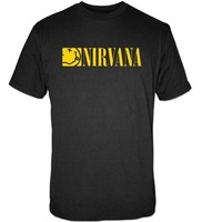 2014 New Men's Nirvana Boxed Smile T Shirt Men's brand T-Shirt Man Sport Tshirt S/M/L/XL Free Shipping