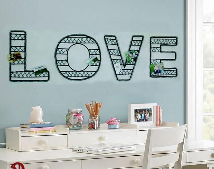 Metal Wall Art Hand Made Word Love Metal Craft As Wall Decor