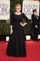 Free Shipping Plus Szie O Neck Golden Globes 2013 Adele Black Chiffon Half Sleeve Evening Dresses With Crystals