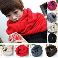 Fashion 2014 women's winter outdoor yarn scarf pullover keep warm knitted thickening muffler men's scarf