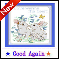 Cross Stitch 2013 new 100% accurate printing Cute Rabbit Europe and home decoration Cotton Manual 30X38cm Free Delivery
