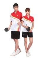free shipping Table tennis ball set y341 short-sleeve T-shirt shorts lovers sportswear jersey