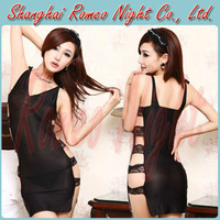Hot Sexy High Elastic Lace Hollow-Out  Dress + G-String Set, Women Sexy Lingerie Suit,  Erotic Costumes