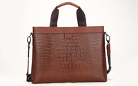 Guarantee 100% Genuine Leather Men Briefcase Cowhide Handbag Fashion Messenger Bag Top Quality Free Shipping