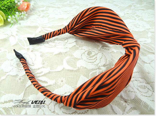 2013 new  autum&winter  classical  strip  wide korean style  girl headband  wholesale  6pcs/lot  free shipping