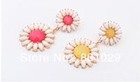 European and American fashion and fresh gem sunflower earrings