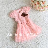 2013 new girls winter dress, vest dress, children's clothes,4pcs/lot