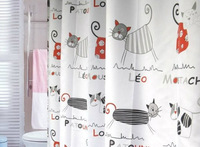 2013 New Arrival Hot sale Waterproof EVA thick shower curtain cartoon tape gutters multicolour 200 180cm,cartoon cat printing
