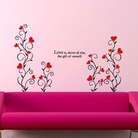 Free Shipping Wholesale and Retail Wall Stickers Stickerbrand Vinyl Wall Decal Sticker Flowers   93 cm H
