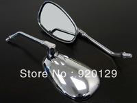 Chrome Oval Motorcycle Rearview Mirrors for Honda CB Shadow VT VF VTX Cafe Racer