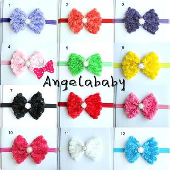 Shabby Chiffon Rose Flwoer Headbands Bow Headbands Toddler Baby Hair Bow Headbands 12pcs/lot