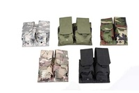 High Quality Nylon Tactical Airsoft Molle Double M4 5.56mm Magazine Pouch Mag Bag Black,Green,Sand,CP,Woodland,ACU