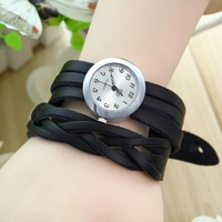 Free Shipping~2013 New Arrival Punk Stylis Criterium Leather Ladies Watch,Quartz Watch For Women,Fashion Bracelet Watch#W049