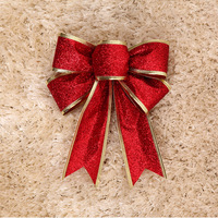 25cm christmas bow shallops powder quality bow decoration garland rattails decoration