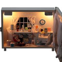 Diy handmade wooden model light box star light christmas gift birthday gift