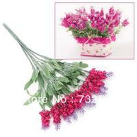 Bunch Bouquet Home Party Garden Decor White10 Heads Lavender Artificial Flower