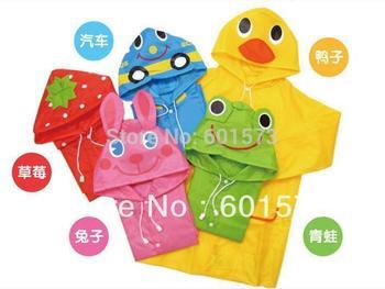 Free Shipping Kids Rain Coat children Raincoat Rainwear/Rainsuit,Kids Waterproof Animal Raincoat