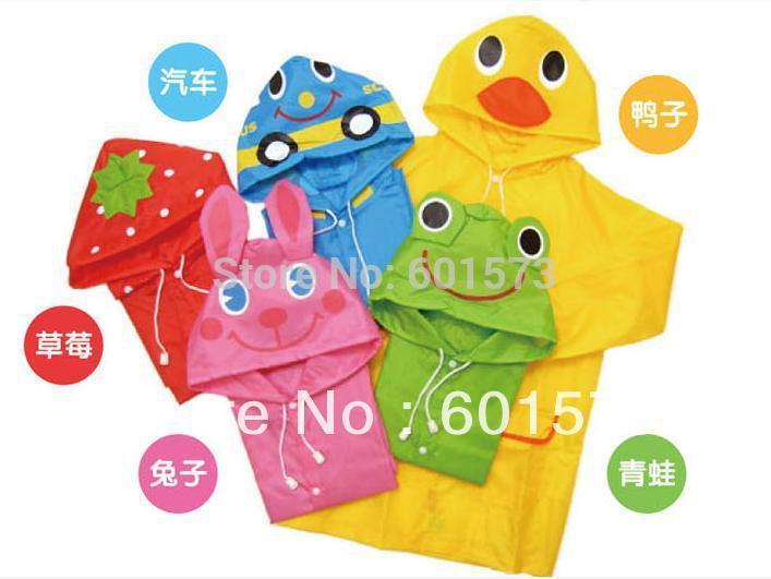 Free Shipping Kids Rain Coat children Raincoat Rainwear/Rainsuit,Kids Waterproof Animal Raincoat(China (Mainland))