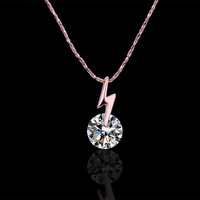 wholesale 18K Rose Gold plated fashion jewelry Austria Crystal,rhinestone,CZ diamond,Nickle Free pendant necklace KN477