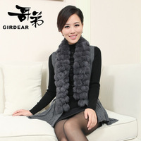 Women's plus size sweater vest rex rabbit hair waistcoat women's vest autumn and winter