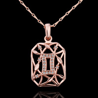 wholesale 18K Rose Gold plated fashion jewelry Austria Crystal,rhinestone,CZ diamond,Nickle Free pendant necklace KN605