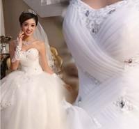 Free Shipping princess Sweetheart Beading Hot Sales Floor-Length Sleeveless Cheap Wedding Dress/Cheap Wedding Gown