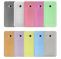 30pcs New Cute ! Ultra Thin Slim 0.3mm Matte Soft Plastic Back Case Cover Skin for HTC ONE M7 Free shipping
