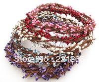 Rural wind simulation flowers bead bead flower ring DIY craft wreath 40 cm