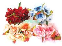 Plum blossom peach blossoms with Ye Mei simulation silk flowers artificial flowers dyi wreath headdress