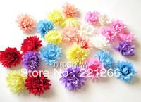 Simulation decorative flower hairpin chrysanthemum silk flowers flowers DIY clothes bag 4 cm