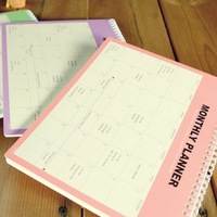 Free shipping Korea stationery 2014 calendar organizer planner monthly schedule