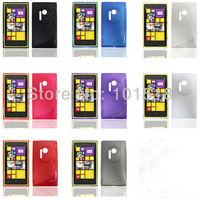 100pcs/lot Free shipping Crystal S-Line TPU Soft Plastic Gel Case For Nokia Lumia 1020