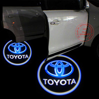 2pcs/lot Latest 4th Gen 7W Car Door CREE LED 3D Logo Light Welcome Ghost Shadow Laser Projection Light Lamp for Toyota