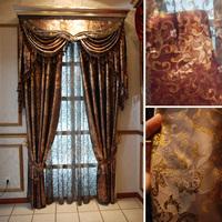Luxury yarn quality finished product window curtain