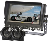 "7""DIGITAL REAR VIEW BACKUP CAMERA SYSTEM+2 SIDE VIEW CAMERAS FOR MOTORHOME,TRUCK"