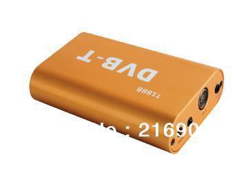FreeShiping Auto Mobile DVB-T MPEG4 Car Mobile HD/SD Digital TV Receiver Box DVB T Tuner Fit For EU Car DVD Connect via AUX in