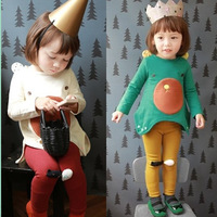 Children's clothing female child autumn 2013 annika bear long-sleeve T-shirt legging child set