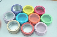 multi-color classic round shape plain window tin box candy gift boxes 7.5cm