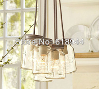 American Style Rustic Single Head Indoor Glass Bottle Pendant Light, Lamps for Home Modern, Restaurant, Bar Dining Table