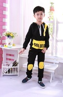 Free shipping 2013 newThe new boy leisure suit children spring autumn cotton authentic sportswear tracksuit
