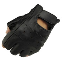 The Men's Tactical Gloves Autumn Winter Hunting Fingerless Fitness Mittens Leather Bike Motorcycle Sport Glove For Men