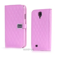 New Arrival Genuine Leather+PC Flip Stand Case Cover For Samsung Galaxy S4 I9500 With Wallet Card Function Free Shipping