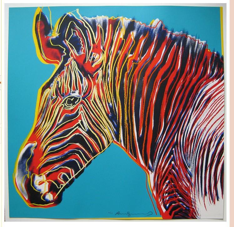 Tiger Pop Art Pop Art Andy Warhol Zebra Oil