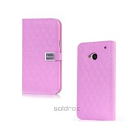 High Quality Genuine Leather+PC Flip Stand Case Cover  For HTC One M7 With Wallet Card Function Free Shipping
