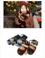Free shipping  2 pairs/lot baby wool gloves infant  mitten children kids gloves  winter robot warm gloves