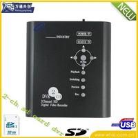 2-CH D1 resolution SD card home DVR ;2-ch mini home dvr