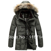 free shipping/ 2013 New fashion men's down coat/best quality mens winter coat/men's down jacket M L XL XXL XXXL Genuine