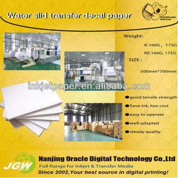 170g water slide decal transfer paper for ceramic